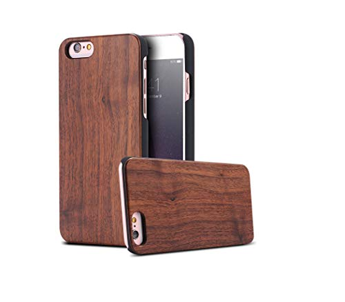 - Wooden Case for 7 X XR 8 6 6S Plus XS Max Cover Wood Hard Phone Case for 7 X XR 5S 5 SE Shell,Bla Walnut,for X XS