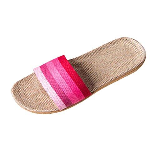 ligero Zapatilla verano libre Interior Chanclas Zapatos Ducha Chicas Lino Mujer baño al Pisos Sandalias Rosa Cómodo Ropa de aire Inicio único adolescentes de de playa Byste 5F41nqYn