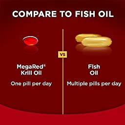 MegaRed 350mg Omega-3 Krill Oil, 65 softgels