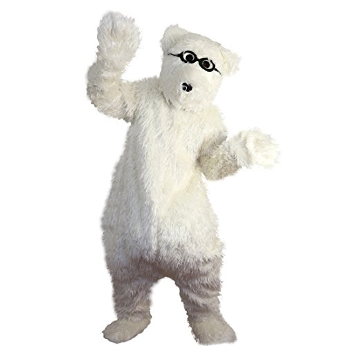 White Polar Bear Mascot Costume Cartoon Character Adult Sz Real Picture -