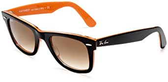 Ray-Ban WAYFARER - TOP BLACK ON TRANSP. ORA Frame CRYSTAL BROWN GRADIENT Lenses 50mm Non-Polarized