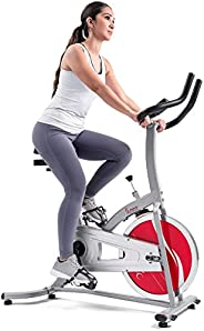 Sunny Health & Fitness Indoor Cycling Exercise Stationary Bike with Digital Mon