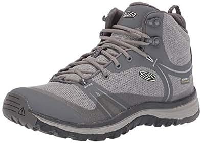 KEEN Women's Terradora Mid Waterproof Hiking Boot, Steel Grey/Magnet, 5 M US