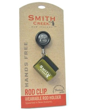 Smith Creek Rod Clip, Wearable Fishing Rod Holder, Blue