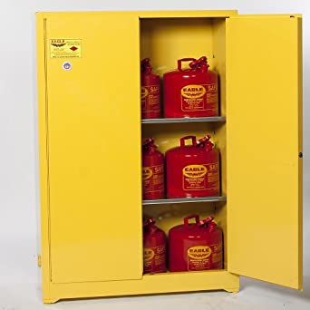 Eagle 1932SC6 Combo Safety Cabinet for Flammable Liquids 2 Door Manual Close 30 gallon  sc 1 st  Amazon.com & Eagle 1932SC6 Combo Safety Cabinet for Flammable Liquids 2 Door ...