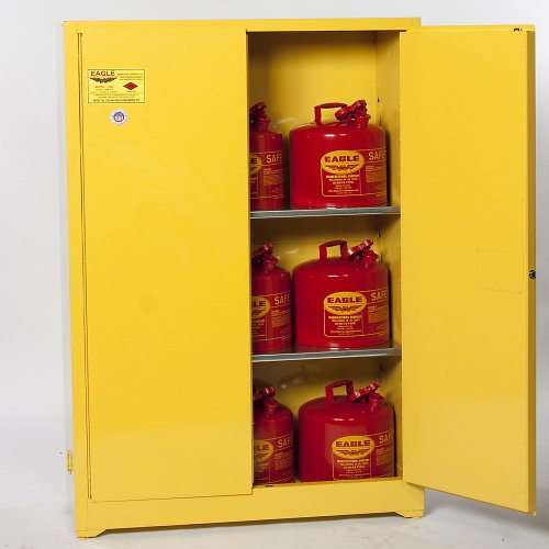 Eagle 1962SC12 Combo Safety Cabinet for Flammable Liquids, 2 Door Manual Close, 60 gallon, 65