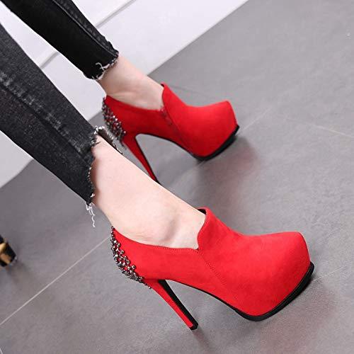 LBTSQ-Ultra-High-Heels 12Cm Sagte Kahlen Schuhe Stiefel Stiefel Stiefel Wasserdicht Sexy Dünnen Absätzen High Heels Mode Meine Damen Braut-Schuhe 609440