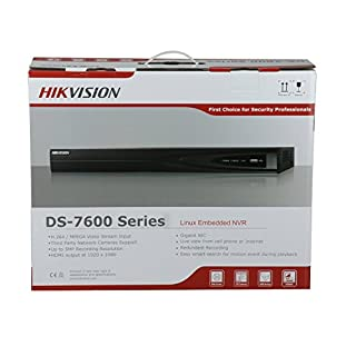 HIKVISION NVR DS-7608NI-E2/8P 8CH PoE Embedded Plug & Play Network Video Recorder with up to 6MP Resolution Recording ONVIF English Version (Renewed)