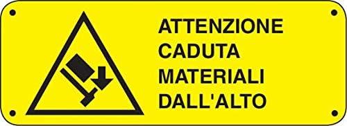 Cartellonistica Sicherheitsschild UNI7543 aus Aluminium cm. 35x12,5 - Achtung Materialabfall von Alto