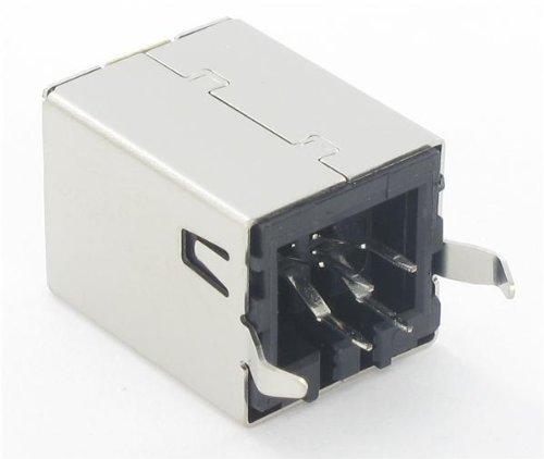 100 pieces USB Connectors B TYPE VERT BLK SKT