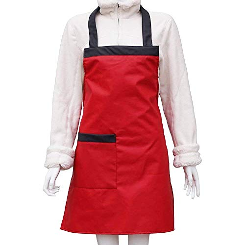 L-SRONG Waterproof Rubber Vinyl Apron - Upgraded 2018 Model - Best for Staying Dry When Dishwashing, Lab Work, Butcher,Cleaning Fish, Projects - Industrial Chemical Resistant Plastic