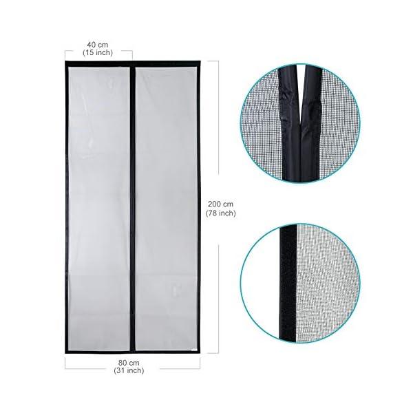 41fqaSjKNjL Apalus VP Magnet Fliegengitter Tür, Insektenschutz Balkontür 80x200 cm, 2 x Langlebiger als der Apalus Klassiker, Katzen…