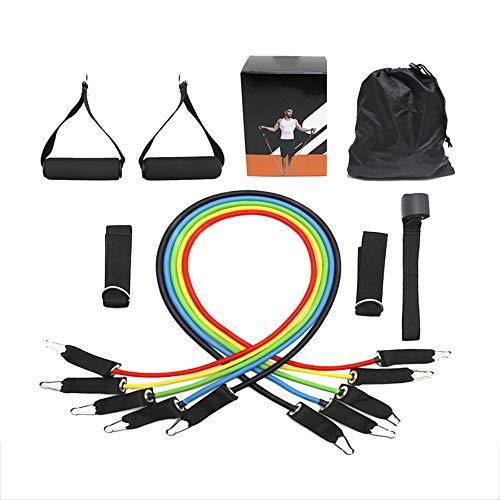 SAILORMJY Resistance Exercise Fitness Bands Set Women Men, Natural Latex Tube Multifunction Suspension Pull Rope,Training Yoga Belt Elastic Band