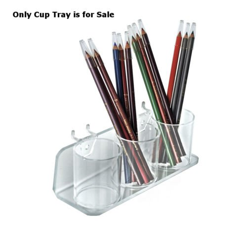 Count of 2 New Retails 3 Clear Acrylic Cup Tray For Pegboard & Slatwall