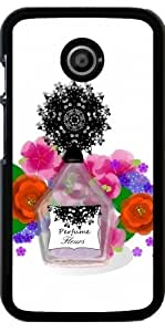 Funda para Motorola Moto E (Generation 1) - Flores De Perfume Elegante by Blingiton