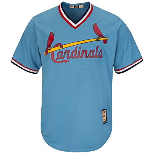 Majestic St. Louis Cardinals Youth Cool Base Road Cooperstown Jersey Blue (Youth Large 14/16)