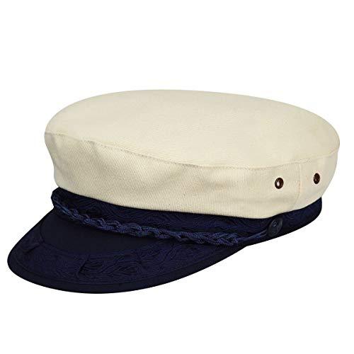 Country Gentleman Men's Canvas Greek Fisherman Cap HAT, Beige, 7 1/4