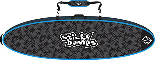 Sticky Bumps Double Black / Blue / Reflective Travel Surfboard Bag - 9'6''