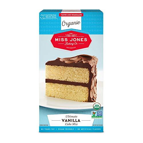 Miss Jones Baking Organic Cake Mix, Vanilla (Pack of 1)