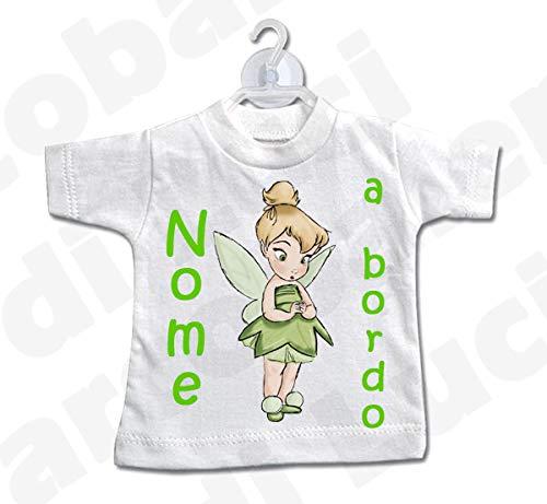 LArcobaleno di Luci Mini T-Shirt Bimbo A Bordo Con principesse e Nome Bimba 01