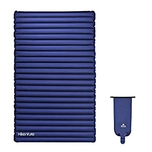 HIKENTURE Double Camping Pad with Pump Bag Inflatable Air Mattress - Light and Compact - for Backpacking, Self-Driving Tour, Hiking, Tent