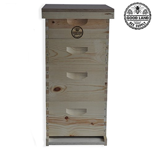 GOODLAND BEE SUPPLY Double Deep Brood Box and Double Super Box 4 Tier...