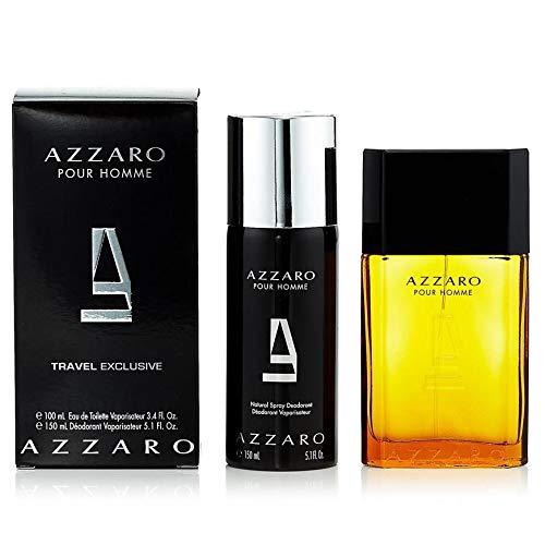 Azzarŏ Pour Homme Cologne for Men Gift Set (3.4 oz Eau de Toilette & 5.1 oz Deodorant Spray)