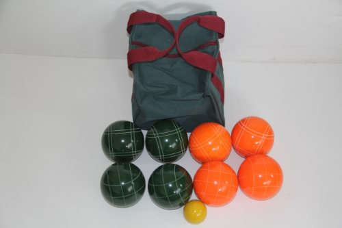 Premium Quality Epco Tournament Set - 110mm Orange and Green Bocce Balls [Toy] by Epco