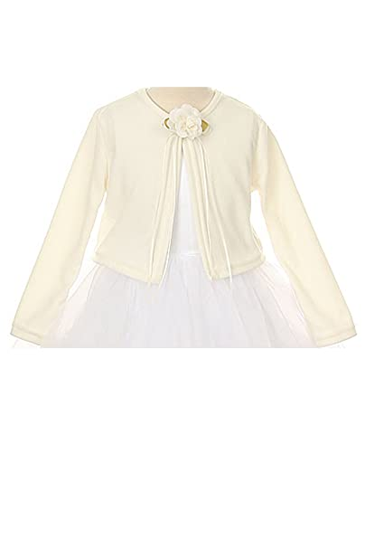 Basic Knit Special Occasion Girls Cardigan Jacket Sweater - Ivory Girl ...