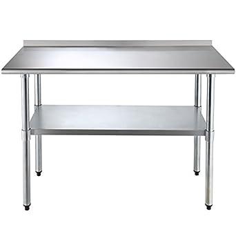 Amazon.com: Mesa de trabajo de acero inoxidable para uso ...