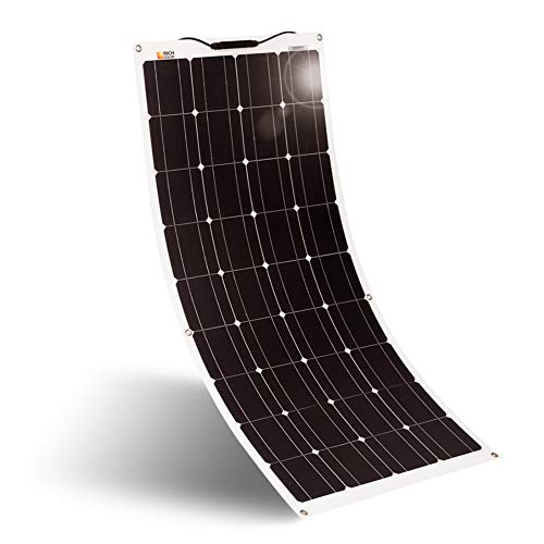 Rich Solar 100 Watt 12 Volt Flexible Monocrystalline Lightweight Solar Panel for RV, Boats, Roofs, Uneven Surfaces, Ultra Thin with MC4 Connectors (100W Solar Panel) (Mono Panel Solar)