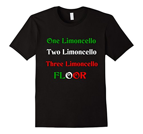 Men's One Limoncello (Italian liqueur) t-shirt Large Black