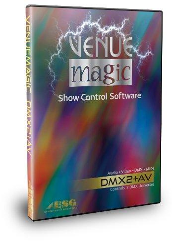 Professional Software Entertainment Controller - VenueMagic VMAV22-SO DMX2+av Software (2 Universe)