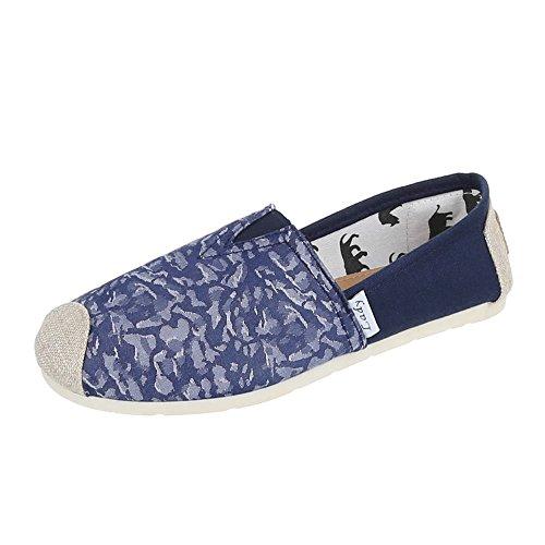 Ital-Design - Zapatillas de casa Mujer Azul - Blau 1