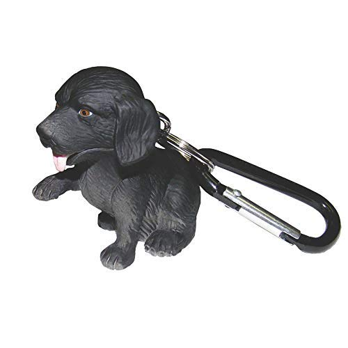 Wildlight Animal Carabiner Flashlight - Black Labrador | Animal Keychain Lights