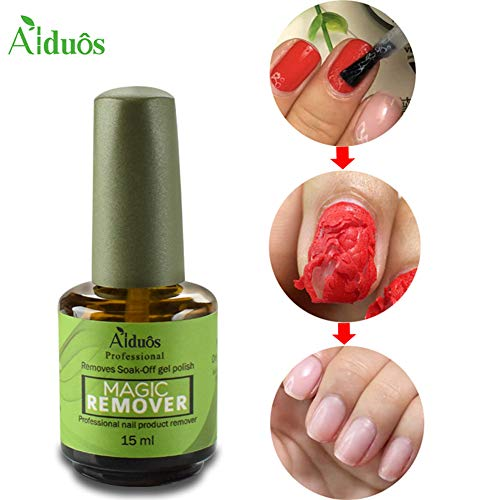 15ml Magic Soak-Off Gel Nail Polish Remover Professional Remover Nail Polish Delete Primer Acrylic Clean Degreaser for Nail Art Lacquer in 3-5 Minutes Easily and Quickly No Hurt Your Nails