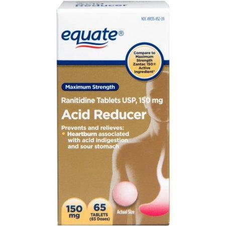 Equate Maximum Strength Acid Reducer Ranitidine Tablets, 150 mg, 65 Ct - 1 Pack