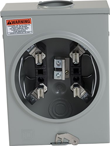 Square D by Schneider Electric UTRS101B 125A Ringless Overhead Meter Socket With No Bypass ()