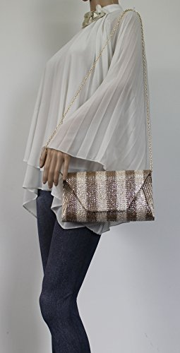 Envelope Party Evening Bag Apricot Wedding Brook Purse Prom SWANKYSWANS Clutch Ladies Night Celebrity Out 5qB6gxn