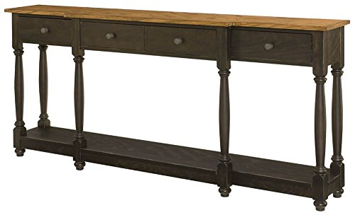 Hammary Drawer Console in Oak Finish