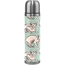 DEYYA Canada Hairless Cat Vacuum Insulated Stainless Steel Water Bottle , Double Walled Construction Portable Thermos Water Bottle Cup, Keeps Your Drink Hot & Cold | 17 Oz (500 ml)
