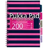 Pukka Pad A4 Project Book - Navy/Pink