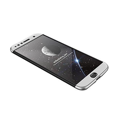 Moto G5s Plus Caso, Vandot de 360 Grados Alrededor de Todo el Cuerpo Completo de Protección Ultra Thin Slim Fit Cubierta de la Caja de Mate PC Absorción de impactos Shockproof para Motorola Moto G5s P PC QBHD-9