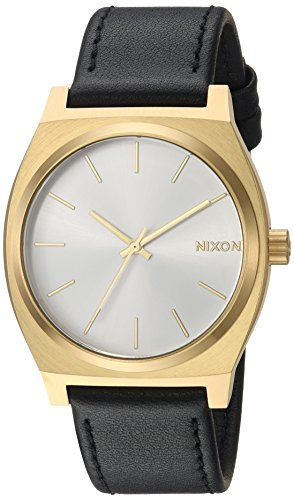 Nixon Time Teller A045. 100m Water Resistant Watch (37mm Stainless Steel Watch Face), Gold / White Sunray / Black