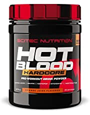Scitec Nutrition Hot Blood Hardcore, pre-workout drink powder with amino acids and creatine