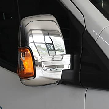 TRANSIT MK8 ABS Chrome Mirror Covers 2 Pieces /& Stainless Steel Chrome Bonnet Ventilation Hood Trims 2 Pieces 2014 Onwards