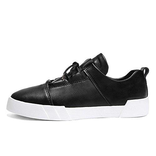 Scarpe piatte scarpe sportive Scarpe da corsa Scarpe da uomo pelle impermeabile del Sport all'aria aperta Fatto a mano Usura antiscivolo , nero , UK 6 / EU 38.5