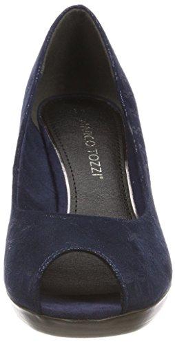 Marco De navy Punta Tacón Con Metallic Zapatos Para Tozzi Abierta 29302 Azul Mujer rt6qrP