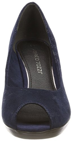 Femme EU Bleu Bout Escarpins 29302 Metallic Ouvert Noir Tozzi Navy Marco 36 XwqgT1Sx8