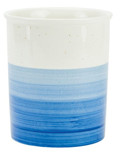 Boston Warehouse 90448 Reactive Glaze Utensil Crock, Blue
